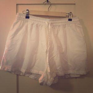 White cotton shorts